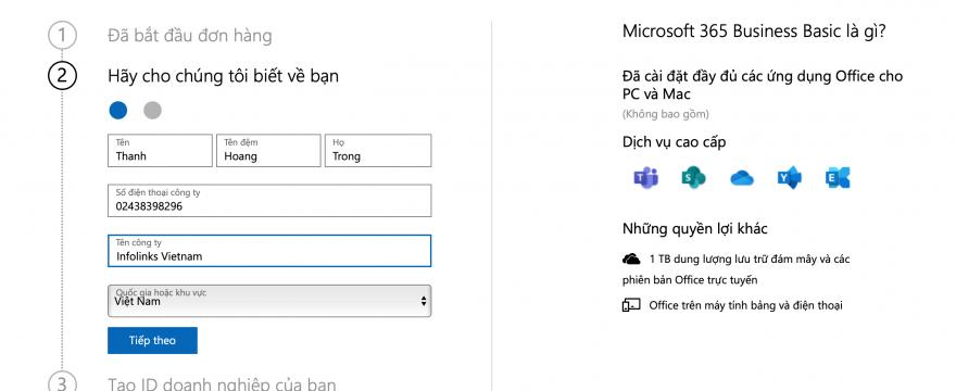 Hướng dẫn đăng ký Microsoft 365 từ A-Z mới nhất